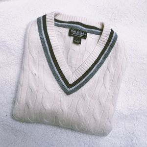 Brooks Brothers Cashmere Tennis Sweater